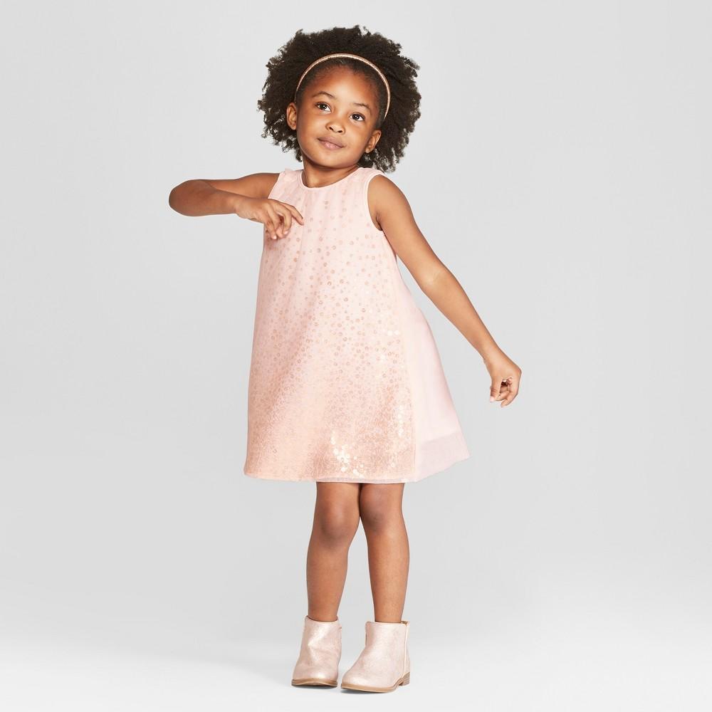 Vintage Style Children's Clothing: Girls, Boys, Baby, Toddler Toddler Girls Ombre Sequin A-Line Dress - Cat  Jack Pink 4T $9.99 AT vintagedancer.com