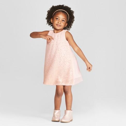 07540337abf Toddler Girls  Ombre Sequin A-Line Dress - Cat   Jack™ Pink   Target