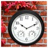 "13.5"" Metal Outdoor / Indoor Wall Clock with Thermometer and Humidity - Acurite - image 2 of 3"