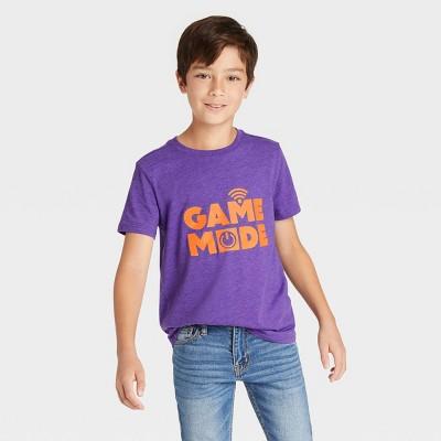 Boys' 'Game Mode' Graphic Short Sleeve T-Shirt - Cat & Jack™ Dark Purple