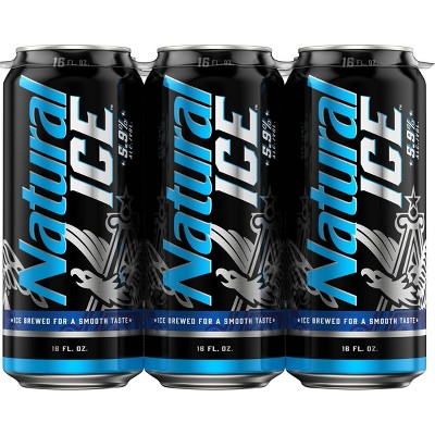 Natural Ice Beer - 6pk/16 fl oz Cans