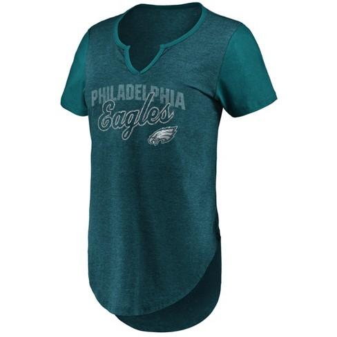 76f106211 NFL Philadelphia Eagles Women s Smart Decision Notch Neck T-Shirt ...