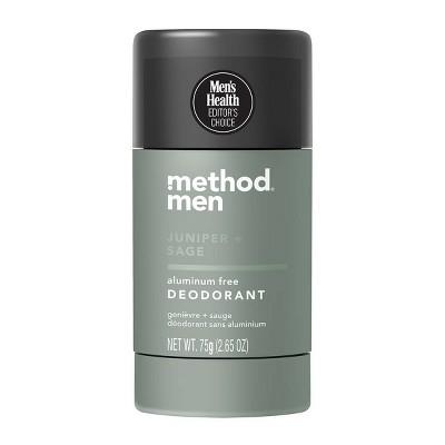 Method Men Aluminum Free Deodorant - Juniper + Sage - 2.65oz