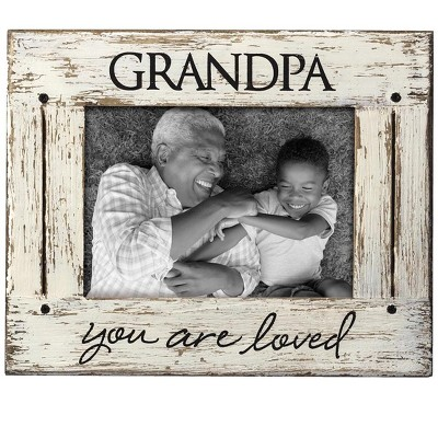 Cream You Are Loved 5 x 7 inch Distressed Wood Picture Frame - Foreside Home & Garden