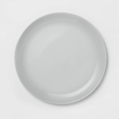 "10.7"" Glass Dinner Plate Gray - Made By Design™"
