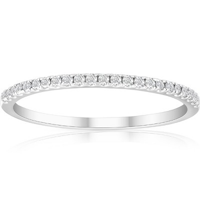 Pompeii3 1/5ct Diamond Wedding Band 10K White Gold