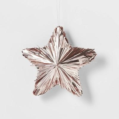 Tinsel Stars Christmas Tree Ornament s Blush - Wondershop™