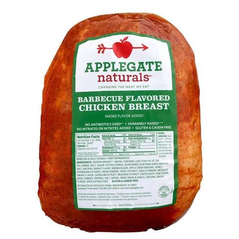 Applegate BBQ Flavored Chicken Breast - Deli Fresh Sliced - price per lb - image 1 of 4