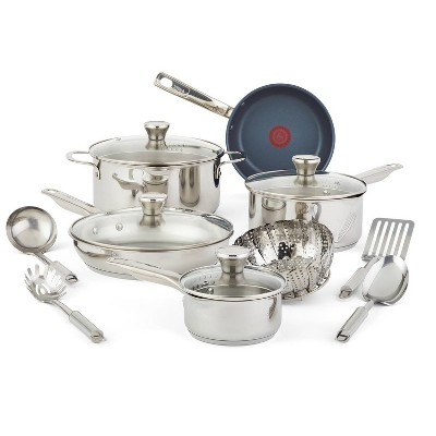 T-fal Platinum Endurance 14pc Stainless Steel Cookware Set
