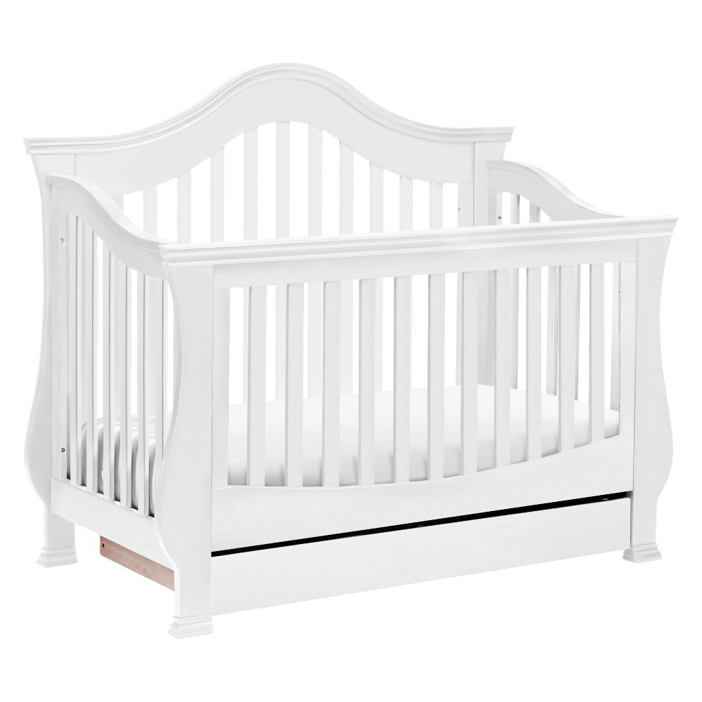 Image of Million Dollar Baby Classic Ashbury 4-in-1 Convertible Crib with Toddler Rail - White