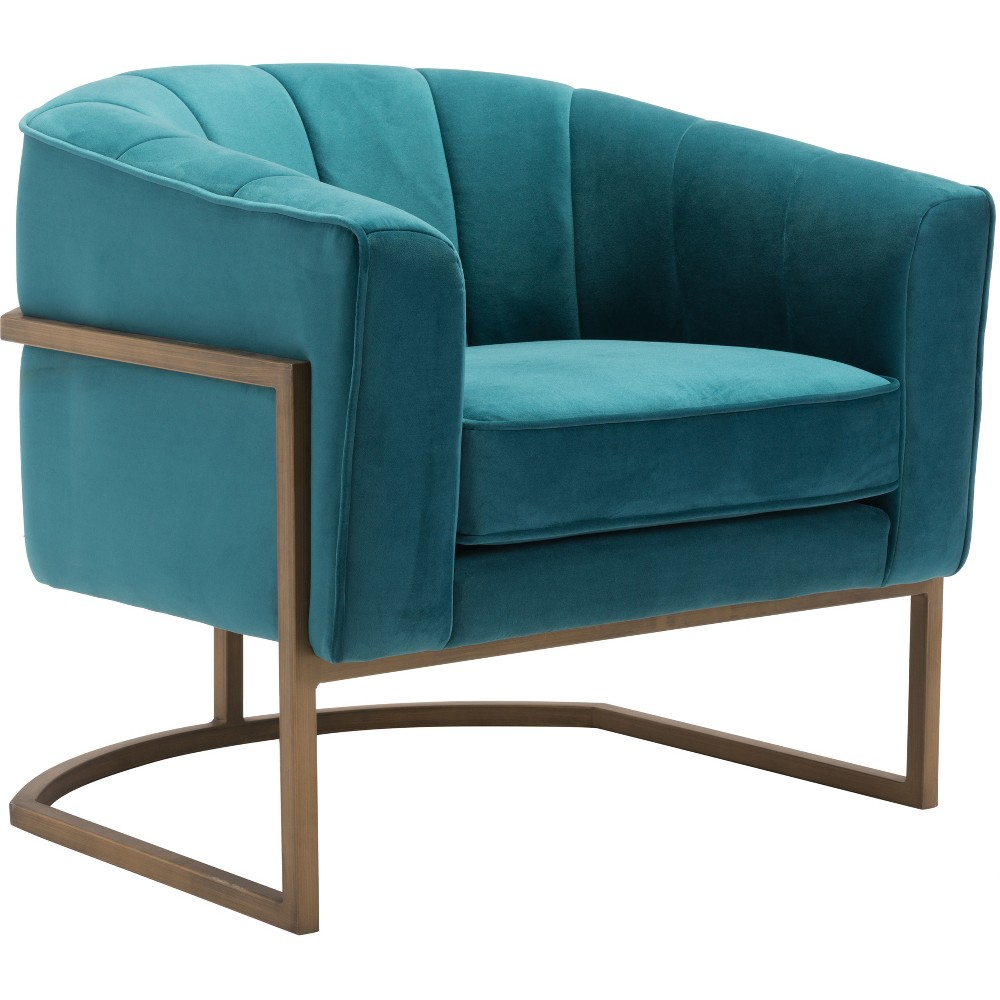 Luxe Velvet Occasional Chair Green - ZM Home
