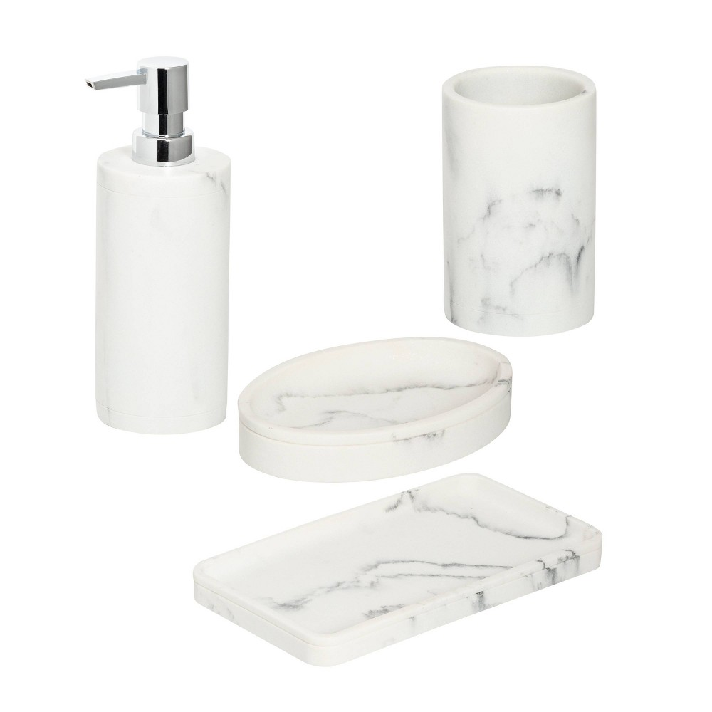 Image of Honey-Can-Do Marble Bath Accessory Set