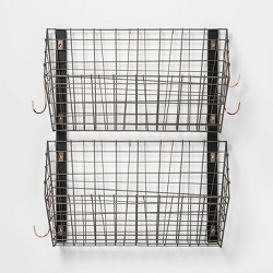 Wire Wall Mounted Shoe Rack Pewter - Threshold™
