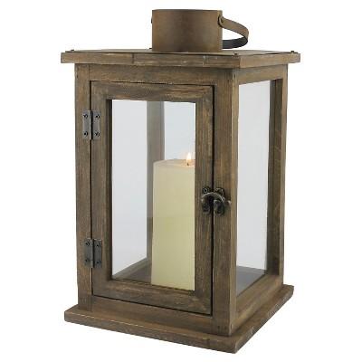 12.9  Stonebriar Rustic Wooden Candle Holder Lantern - CKK Home Decor