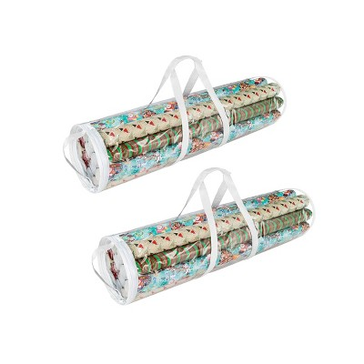 """Elf Stor Elf Stor 2pk Wrapping Paper Gift Wrap Storage Bag for 31"""" Rolls"""
