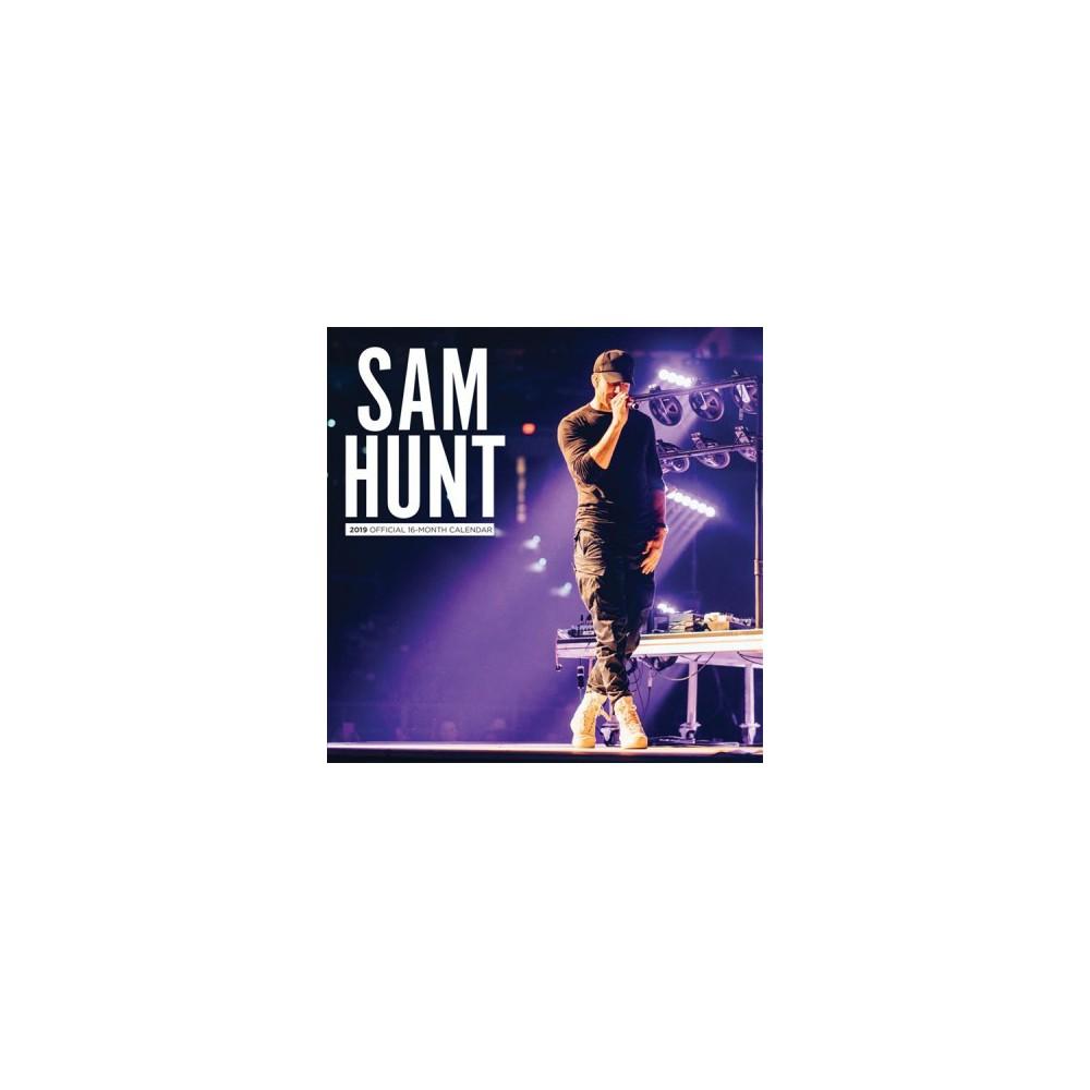 Sam Hunt 2019 Calendar - (Paperback)