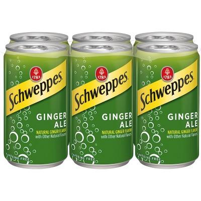 Schweppes Ginger Ale - 6pk/7.5 fl oz Cans