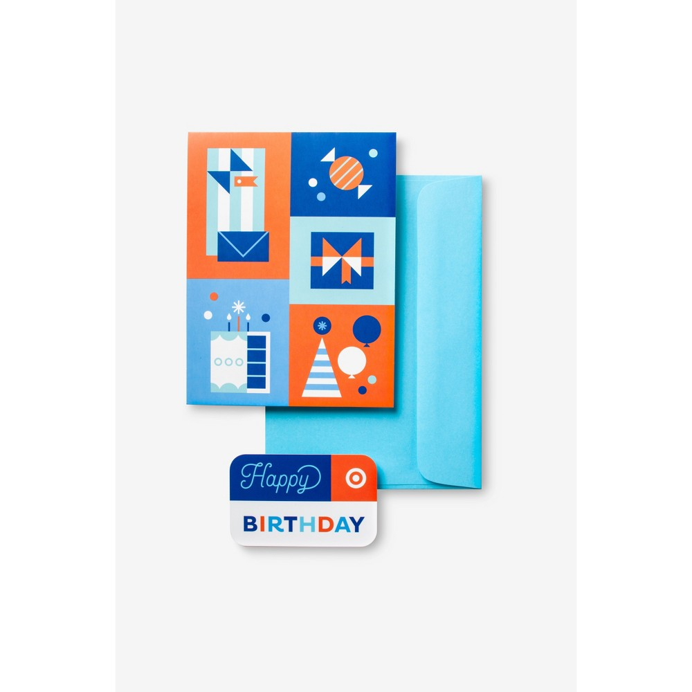 Birthday Symbols GiftCard + Free Greeting Card $500