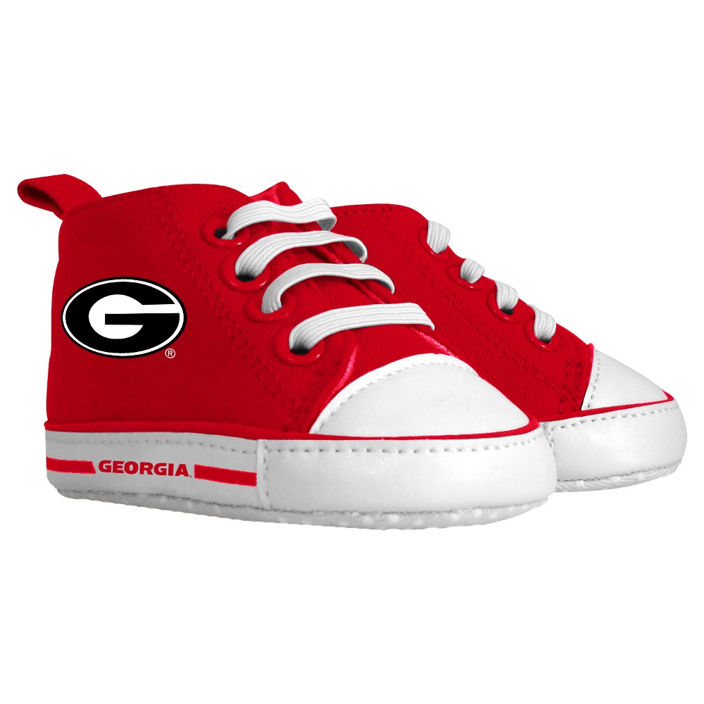 Imn Shoes Child Crib Shoes NCAA Georgia Bulldogs 0-6 M, Kids Unisex, Size: 6 M
