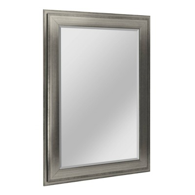 """29.5"""" x 35.5"""" Two-Toned Frame Mirror Silver - Head West"""