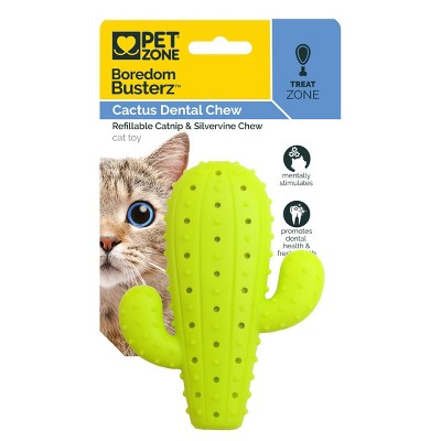 Quirky Kitty Boredom Busters Cactus Dental Cat Toy - Green