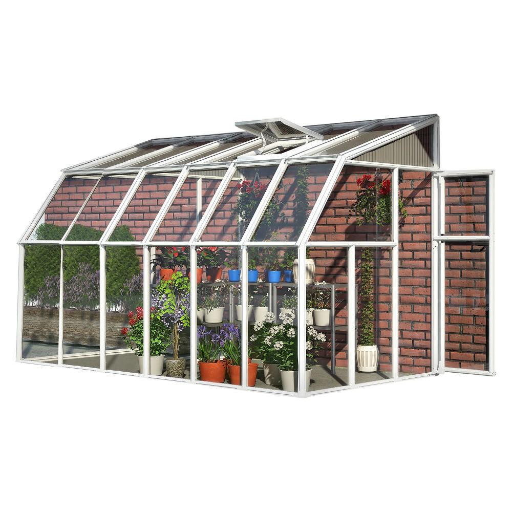 6'X14' Sun Room 2 Greenhouse - White - Palram