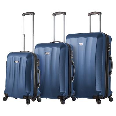 Mia Viaggi Siena Hardside Spinner 3pc Luggage Set - Blue