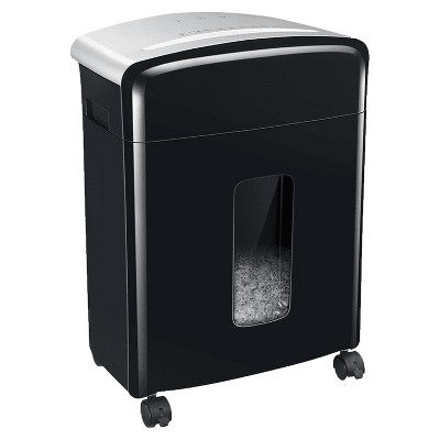 Bonsaii C221-B Portable 12 Sheet Micro Cross Cut Paper, Card, and Disc P-4 High Security Home Office Shredder Bin with 5.3 Gallon Capacity Wastebasket