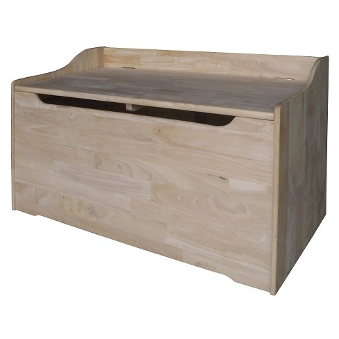 Kids Storage Box Unfinished - International Concepts - image 1 of 7