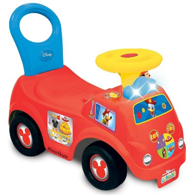 Kiddieland Light n' Sound Mickey Activity Fire Engine Kid Toy Car, Red | 050815