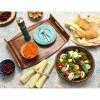 Lipper International Large Acacia Wave Bowl with Salad Servers - image 2 of 3