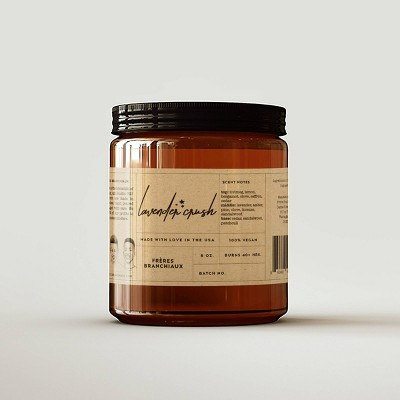 Lavender Crush Candle - Freres Branchiaux