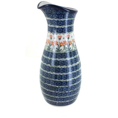 Blue Rose Polish Pottery Peach Posy Water Carafe