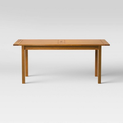 Kaufmann Rectangle Wood Patio Dining Table - Natural - Project 62™