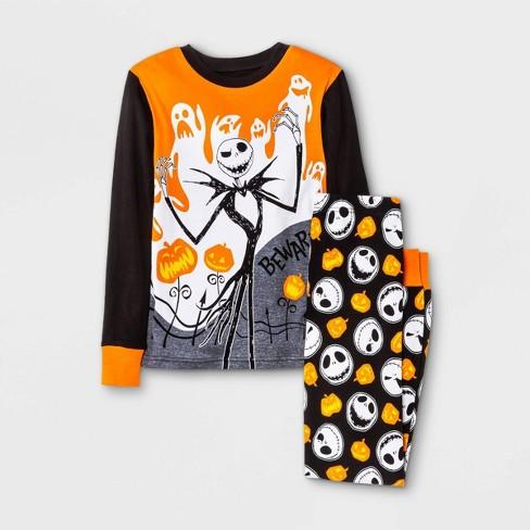 Boys' The Nightmare Before Christmas Jack Skellington 2pc Pajama Set - Black/Orange - image 1 of 3