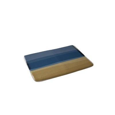 Orara Studio Modern Christmas Memory Foam Bath Mat Blue/Brown - Deny Designs