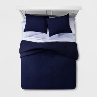 Navy Micro Texture Comforter Set (King) - Project 62™ + Nate Berkus™