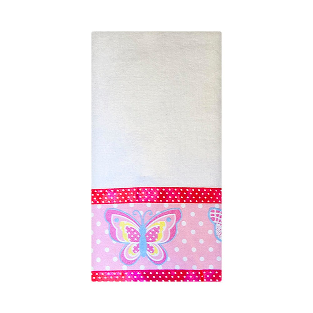 Image of Butterfly Dots Fingertip Towels White/Pink - Homewear