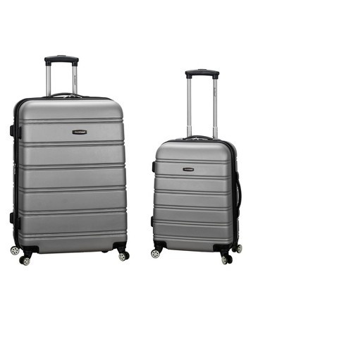 1767c5c621cd Rockland Melbourne 2pc ABS Spinner Luggage Set