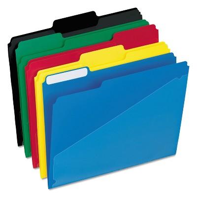 ESSELTE PENDAFLEX CORP. File Folders w/ Hot Pocket 1/3 Cut Tab Letter 25/BX Assorted 00515