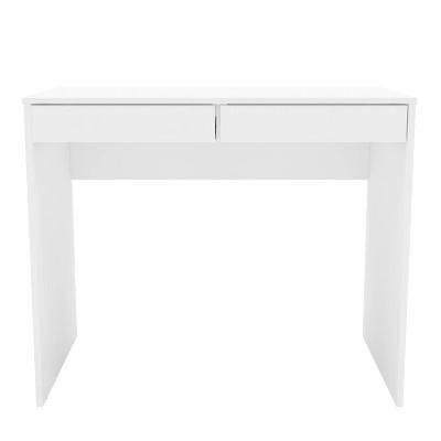 Crimson 2 Drawer Compact Student Desk White - Chique