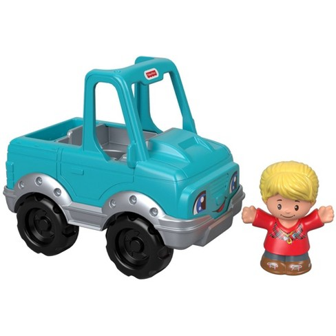 Fisher-Price Little People Help a Friend Pick Up Truck - Blue - image 1 of 4