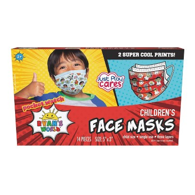 Just Play 3ply Ryan's World Kids Face Mask - 14pc
