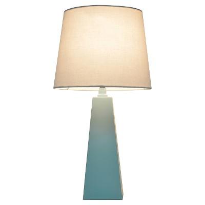 Tapered Table Lamp Aqua (Includes CFL bulb)- Pillowfort™