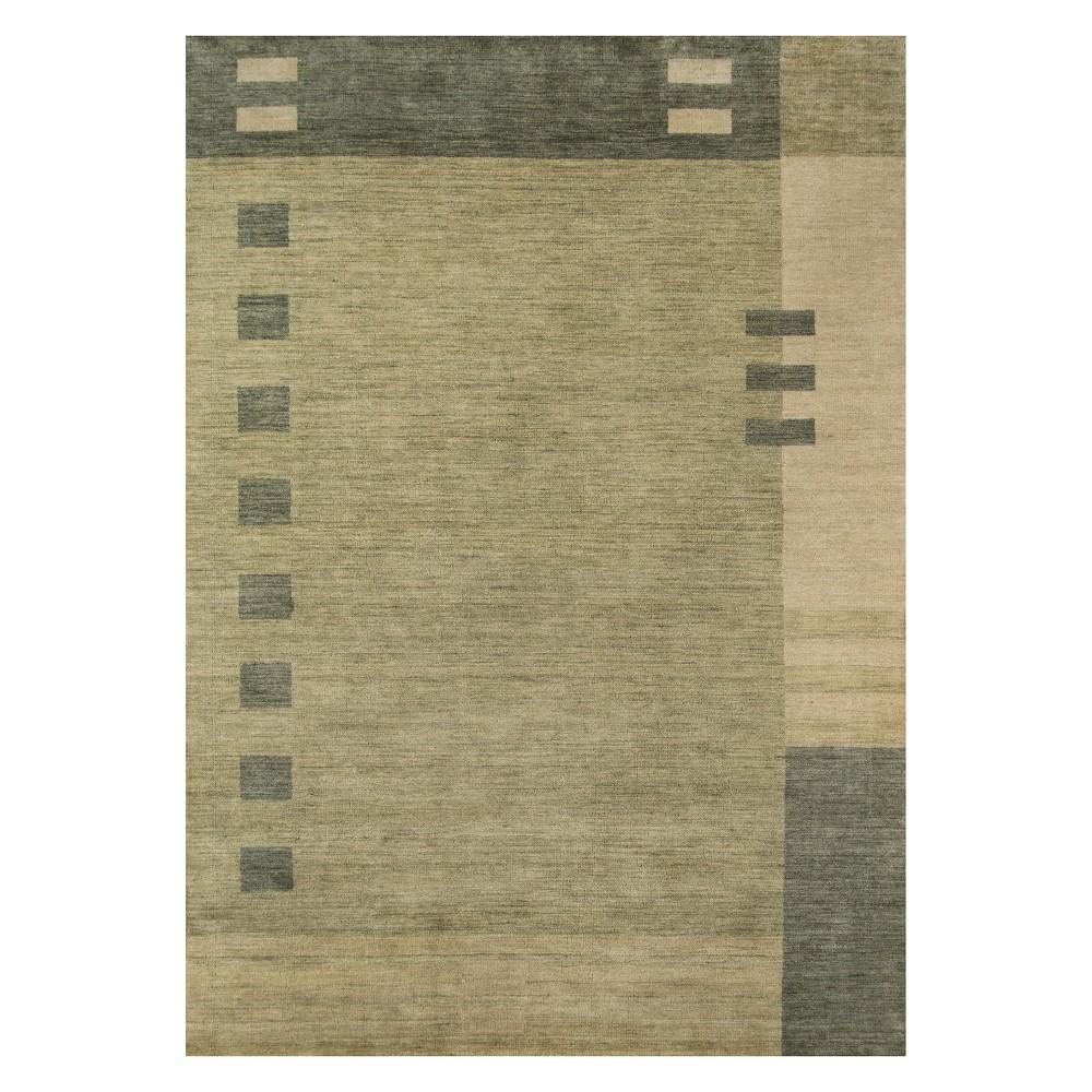 8'X11' Geometric Loomed Area Rug Green - Momeni