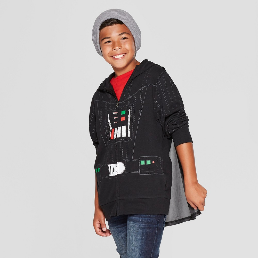 Boys' Star Wars Darth Vader Villain Hooded Sweatshirt - Black Xxl