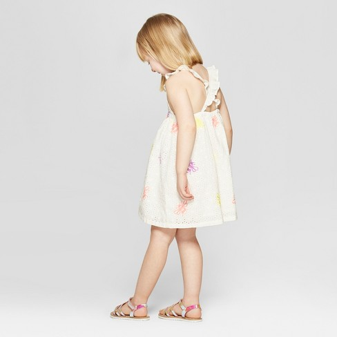 08e4d812c Toddler Girls' Eyelet Embroidered A-Line Dress - Cat & Jack™ White ...
