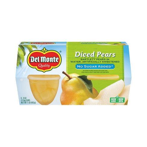 Del Monte Diced Pears - 4ct - image 1 of 1