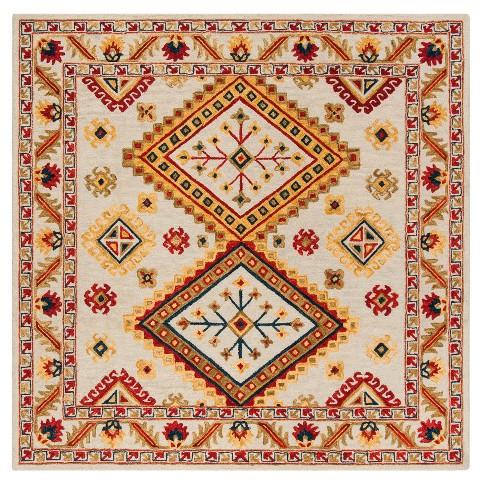 Tribal Design Tufted Square Area Rug 7 X7 Target