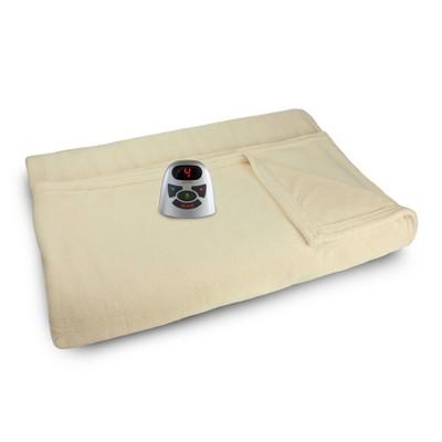Full Microplush Electric Bed Blanket Cream - Biddeford Blankets